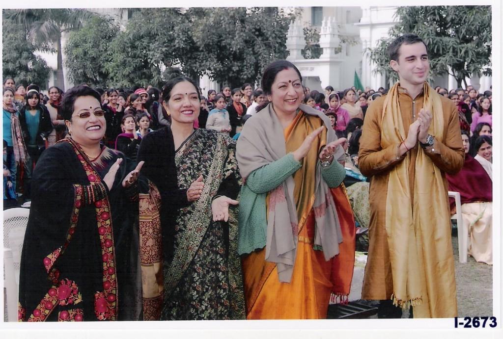 En compagnie de Madame Seema Jain, Madame Satinder Kaur et de Madame la Principale Atima Sharma